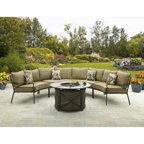 Cosco Outdoor 5 Piece Serene Ridge Aluminum Patio
