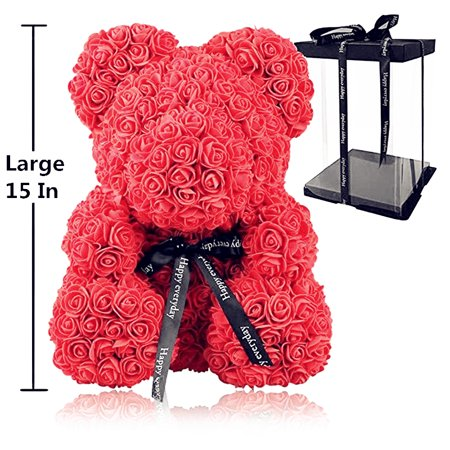 Teddy Bear Roses (LuckyFine Rose Flower Bear - Fully Assembled 15