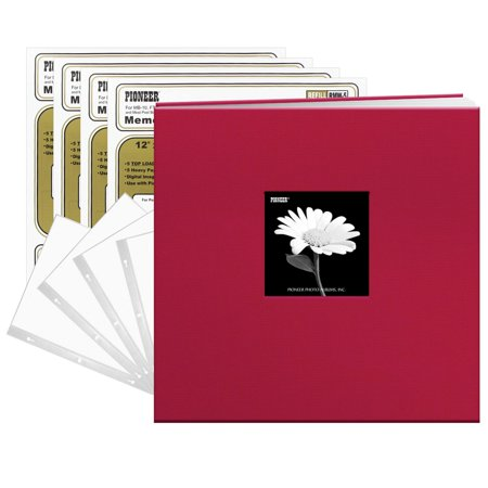 Pioneer Photo Albums Pioneer Champion Burgundy Fabric Frame Cover