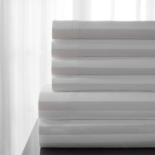 T600 Delray Cotton Rich Stripe Bonus Sheet Set