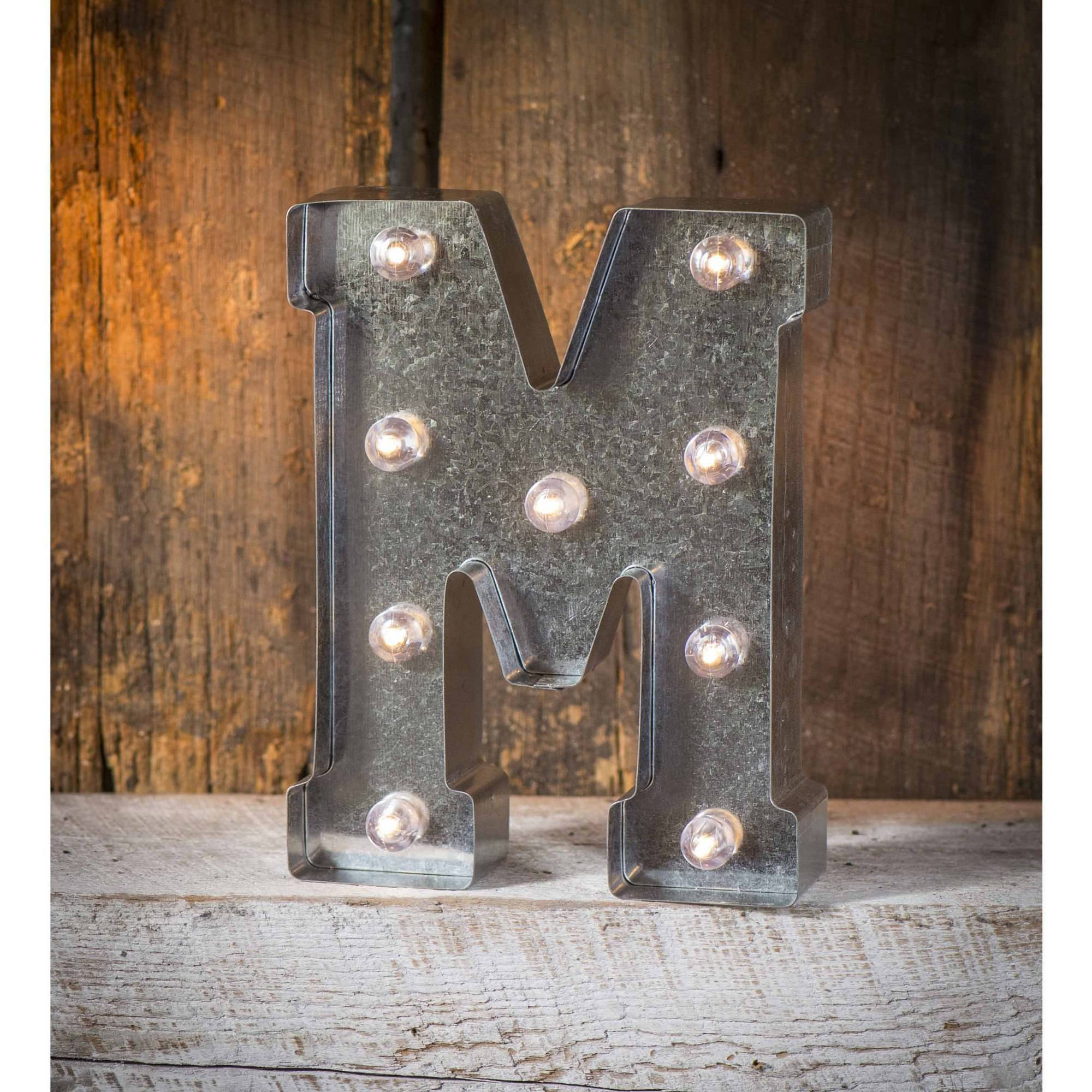 Light-Up Marquee Letter M