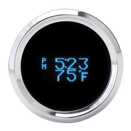 Dakota Round Digital Clock Date Temperature Gauge Blue Display Slx 16 1
