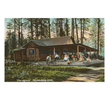 - Log Cabin, Hayden Lake, Idaho Print Wall Art