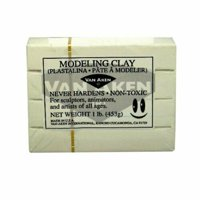 VAN AKEN INTERNATIONAL 10109 PLASTALINA MODELING CLAY WHITE 1LB