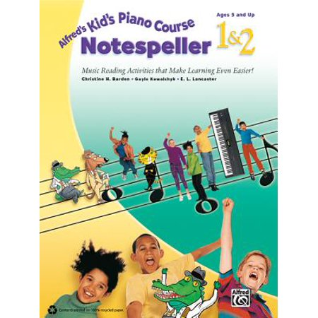 Alfred's Kid's Piano Course Notespeller, Bk 1 & 2 : Music Reading Activities That Make Learning Even Easier! (Course Notespeller Book)