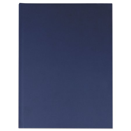 Casebound Hardcover Notebook, Wide/Legal Rule, Dark Blue, 10.25 x 7.68, 150 Pages