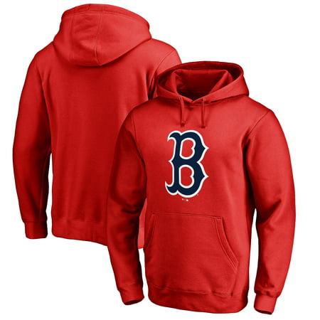 Team Logo Pullover (Boston Red Sox Big & Tall Primary Team Logo Pullover Hoodie - Red)