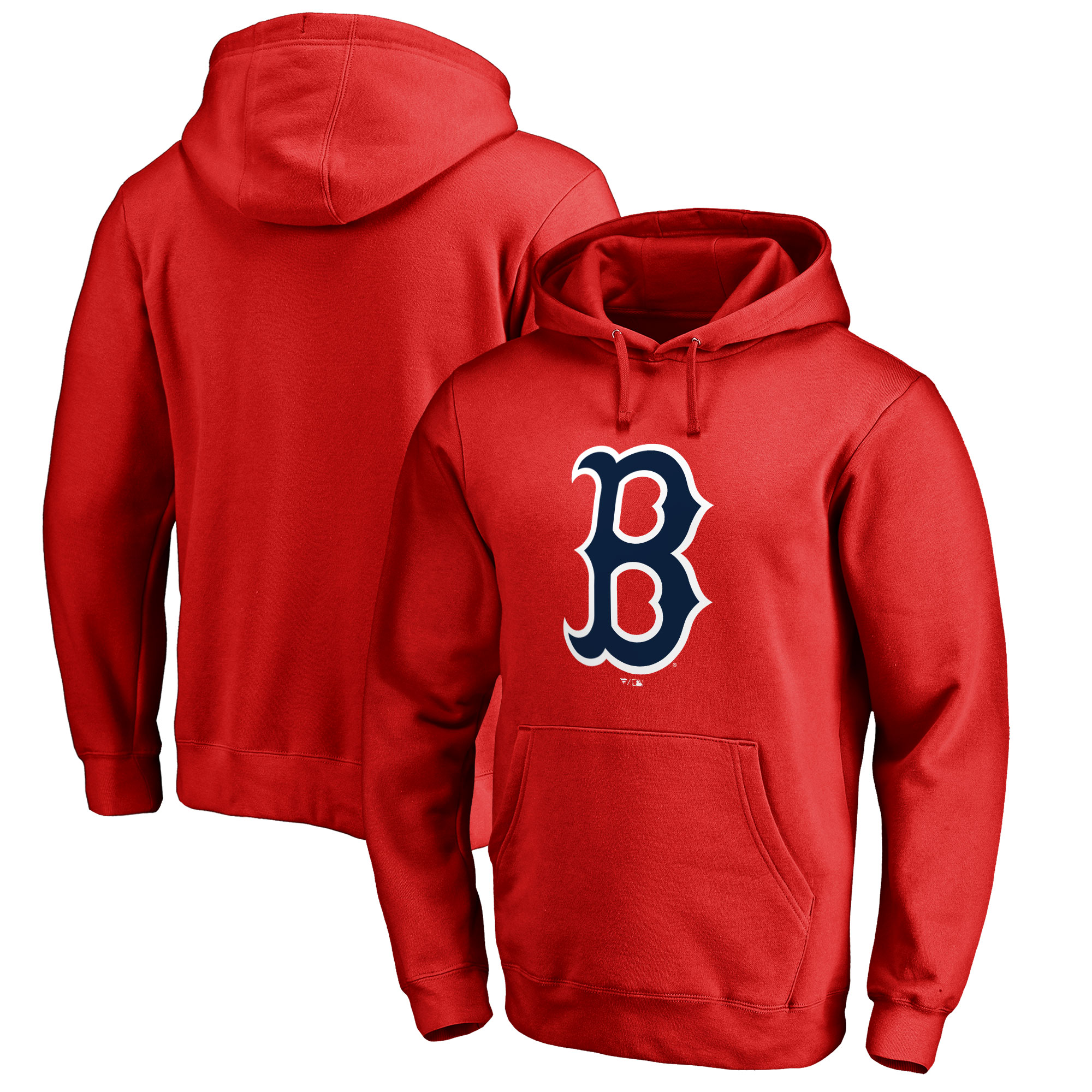 Boston Red Sox Big & Tall Primary Team Logo Pullover Hoodie - Red