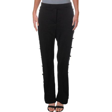 John Paul Richard Womens Side Button Detail High Rise Dress Pants Black XL (Lava Pants)