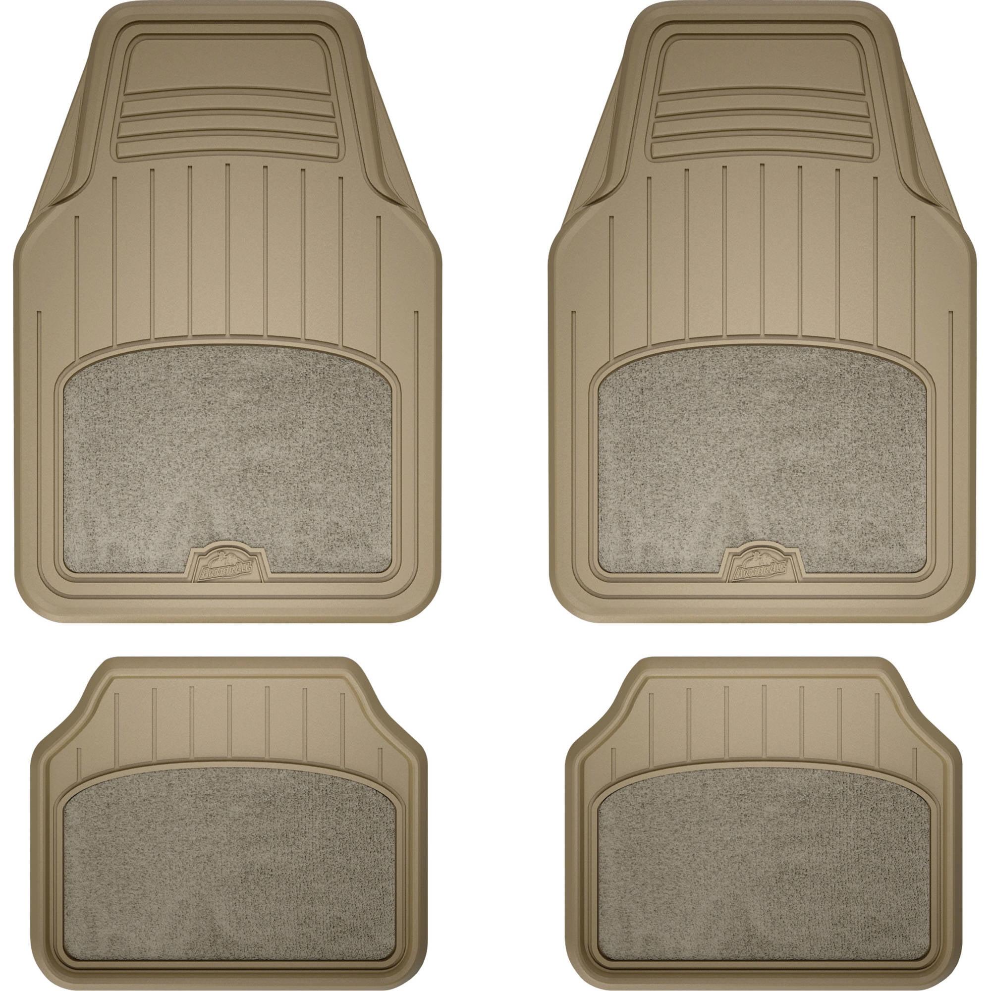 Armor All 78892 4-Piece Tan All Season Carpet /& Rubber Floor Mat