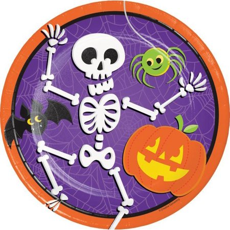 Creative Converting Halloween Skeleton Paper Plates, 8 ct (Creative Halloween Snacks For Toddlers)