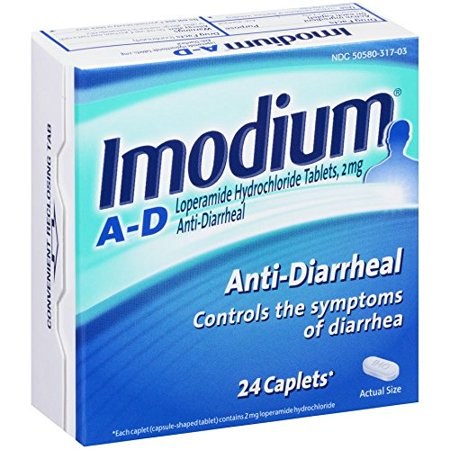 3 Pack Imodium antidiarrhéiques 24 Caplets lopéramide Chlorhydrate Chaque