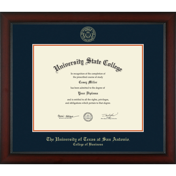 The University Of Texas San Antonio College Of Business Officially Licensed Gold Embossed Diploma Frame Diploma Size 14 X 11 Walmart Com Walmart Com