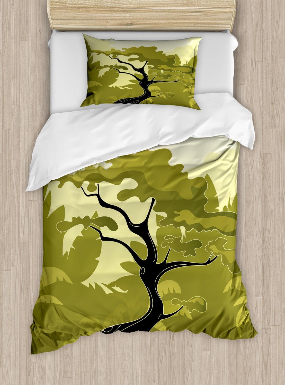 Tree Bedding Blue Comforter Tree bedroom Blanket Modern Tree Artwork Abstract Tree Comforter Nature Comforter Blue and Yellow Bedding