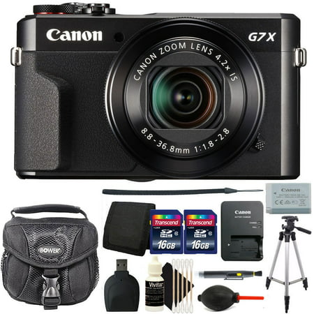 Canon G7X Mark II PowerShot 20.1MP Digital Camera Black with Accessory Bundle