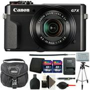 Canon G7X Mark II PowerShot 20.1MP Digital Camera Black with Accessory Bundle