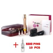 ($123 Value) Dr. Pen M5 Derma Pen Rechargeable Microneedle Microdermabrasion System for Anti Aging + 10 Nano Cartridges