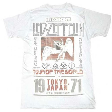 Live Nation Lnm Lz148 Xl Led Zeppelin Tokyo  71 T Shirt   White   Xl