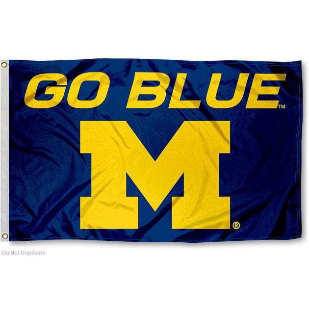 Michigan Wolverines Go Blue 3' x 5' Pole Flag