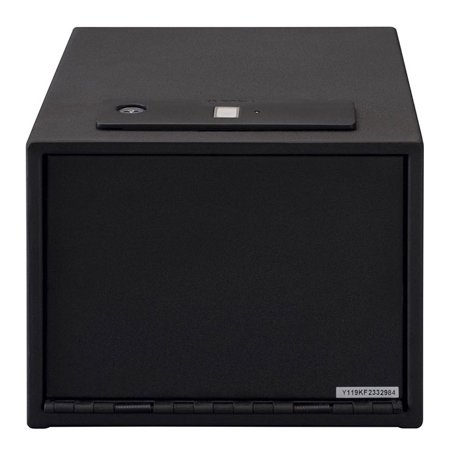 Stackon QAS1512B Stack On Quick Access Safe With Biometric Lock Shelf