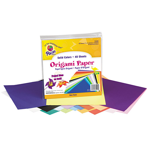 Pacon Origami Paper, 9 x 9, Assorted Bright Colors, 40 Sheets/Pack