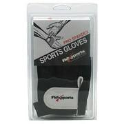 Flexsports International Pro Spandex Sports Gloves, Black/White, Extra Large