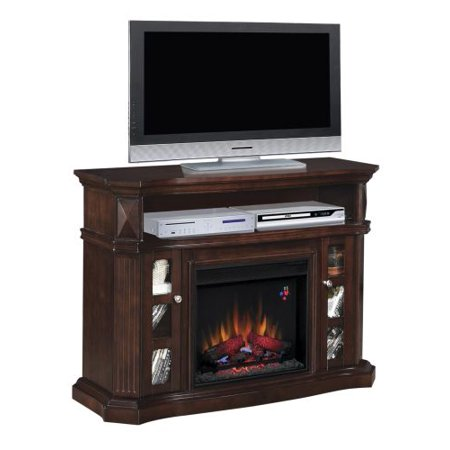 Bellemeade TV Stand with 23″ Infrared Quartz Fireplace, Espresso