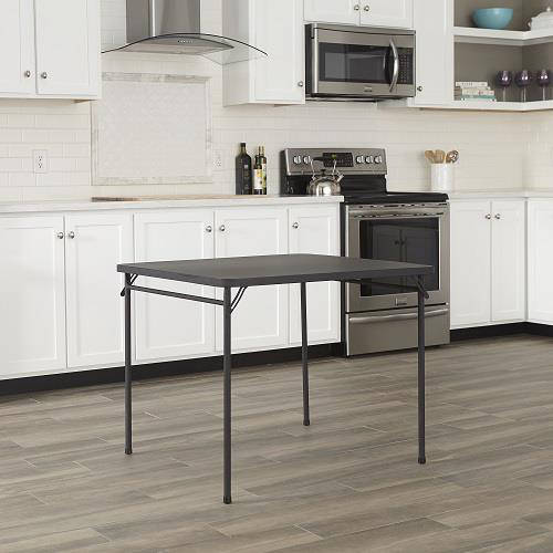"Cosco 34"" Resin Top Folding Table, Black by Cosco"