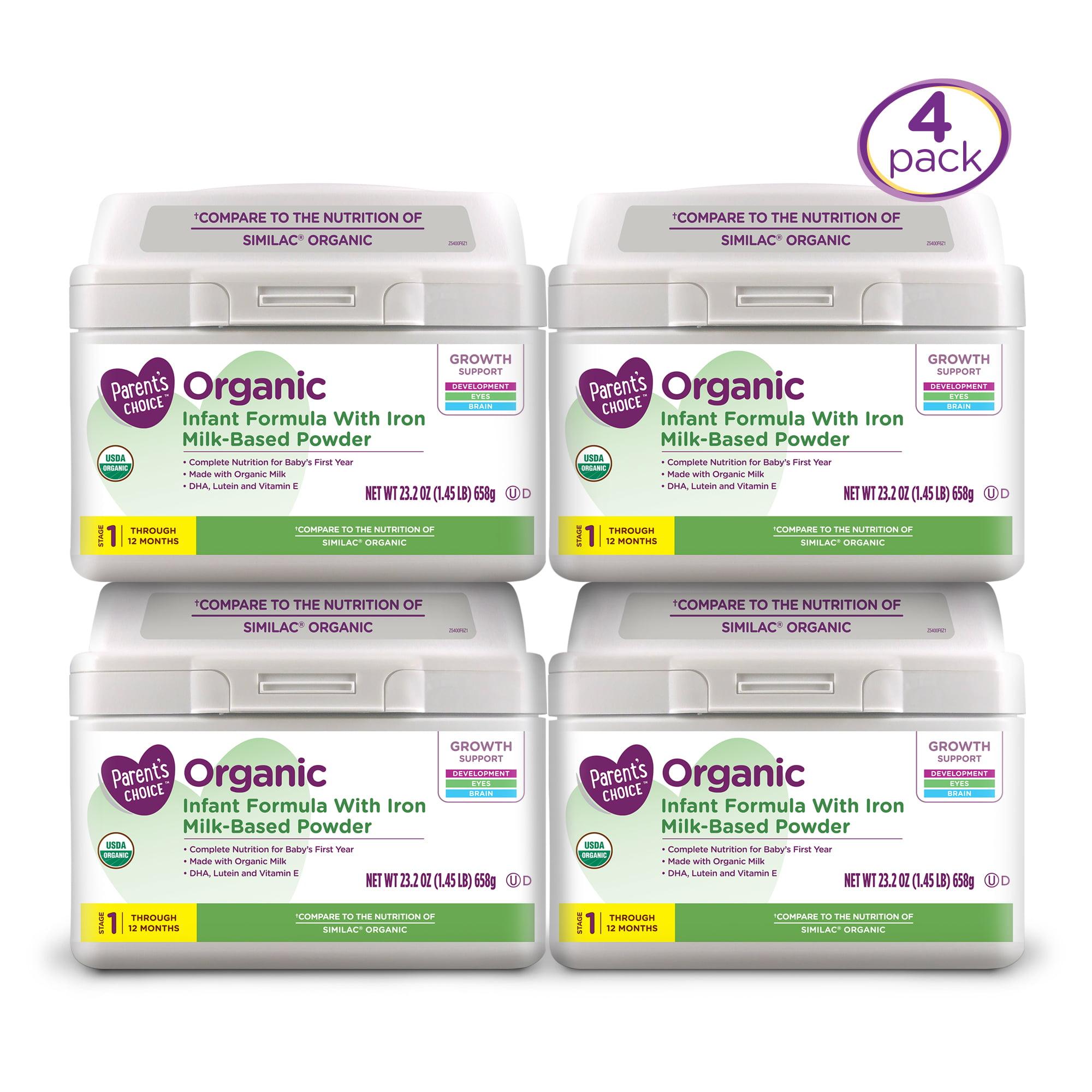 Parent's Choice Organic Milk-Based Formula (Pack of 4) 23.2 oz