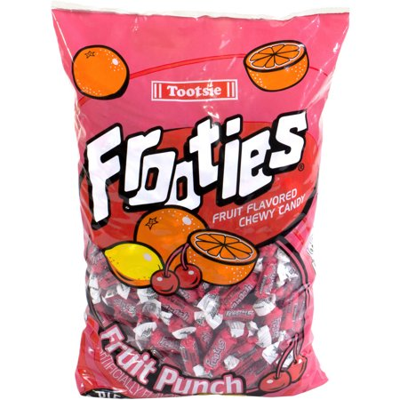 Tootsie Frooties Fruit Punch Fruit Flavored Chewy Candy  360 Count