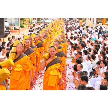 LAMINATED POSTER Orange Monks Buddhists Convention Robes Ceremony Poster Print 24 x 36 - Monk Robes