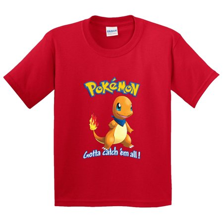 cde1c8df New Way 560 - Youth T-Shirt Pokemon Go Gotta Catch 'Em All Charmander -  Walmart.com