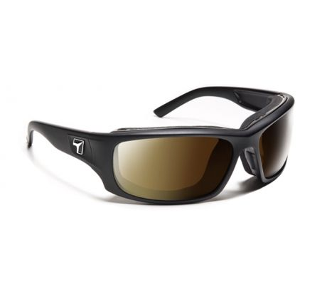 Image of 7 Eye Air Shield Panhead Sunglasses, SharpView Polarized Copper Lens, Matte Black