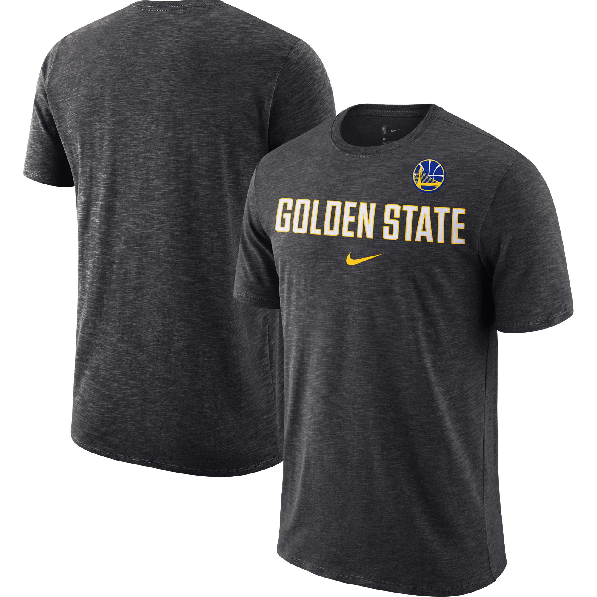 Golden State Warriors Nike Essential Facility Slub Performance T-Shirt - Heathered Gray