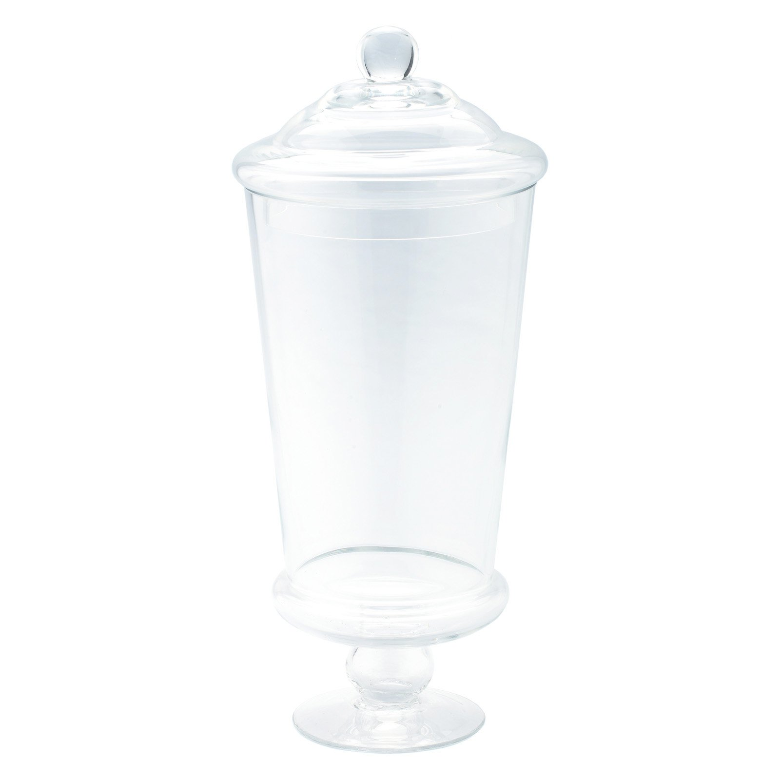 Diamond Star Glass 5Dx8.5 clear Glass Accessory Container