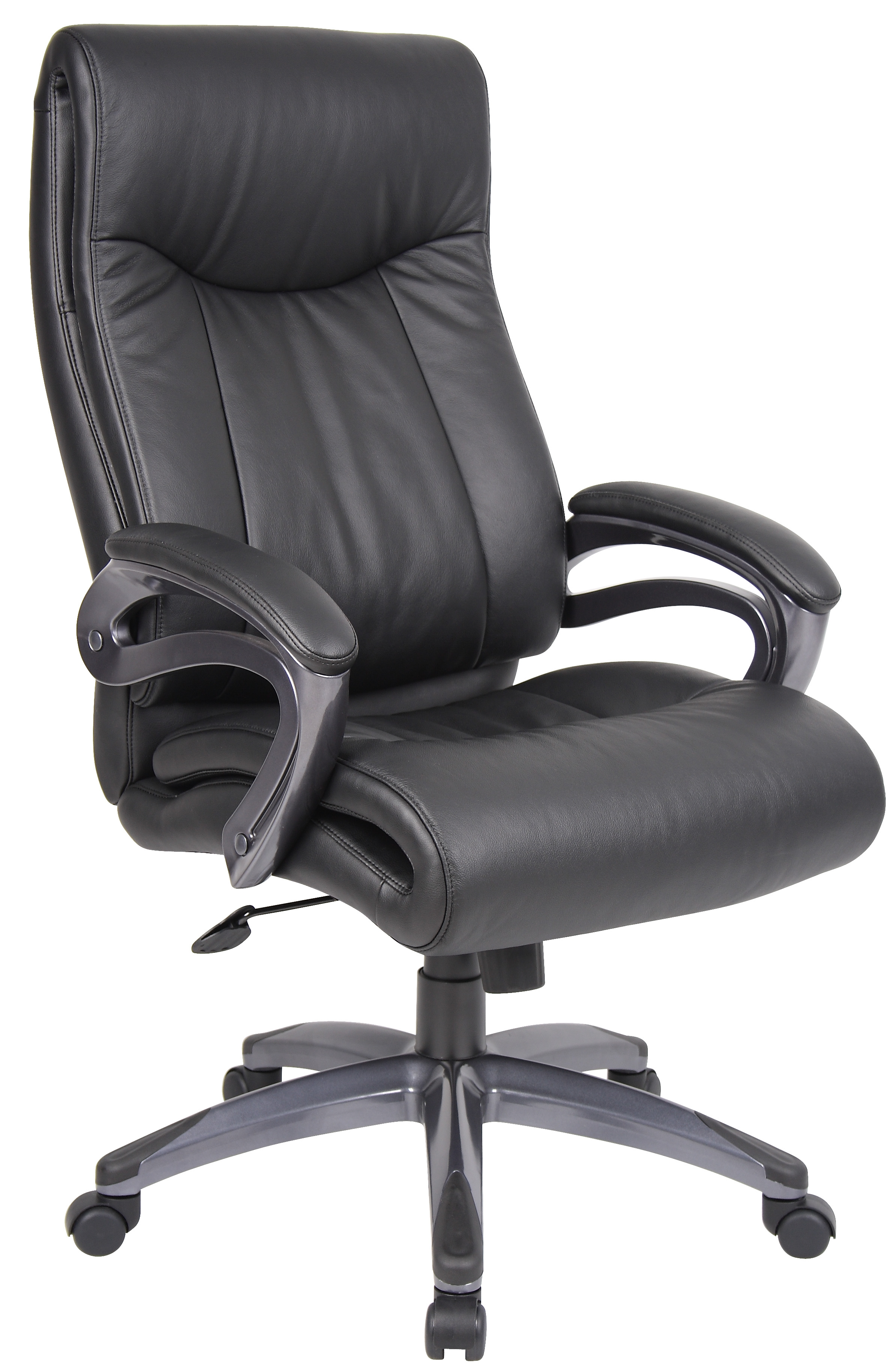 Boss Office Products Black Pillow Top Executive Chair With Padded Arms