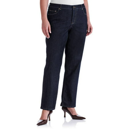 7ff12cb0bdf Just My Size - Women's Plus-Size Slimming Classic Fit Straight-Leg Jeans  With Tummy Control, Regular and Petite Lengths - Walmart.com