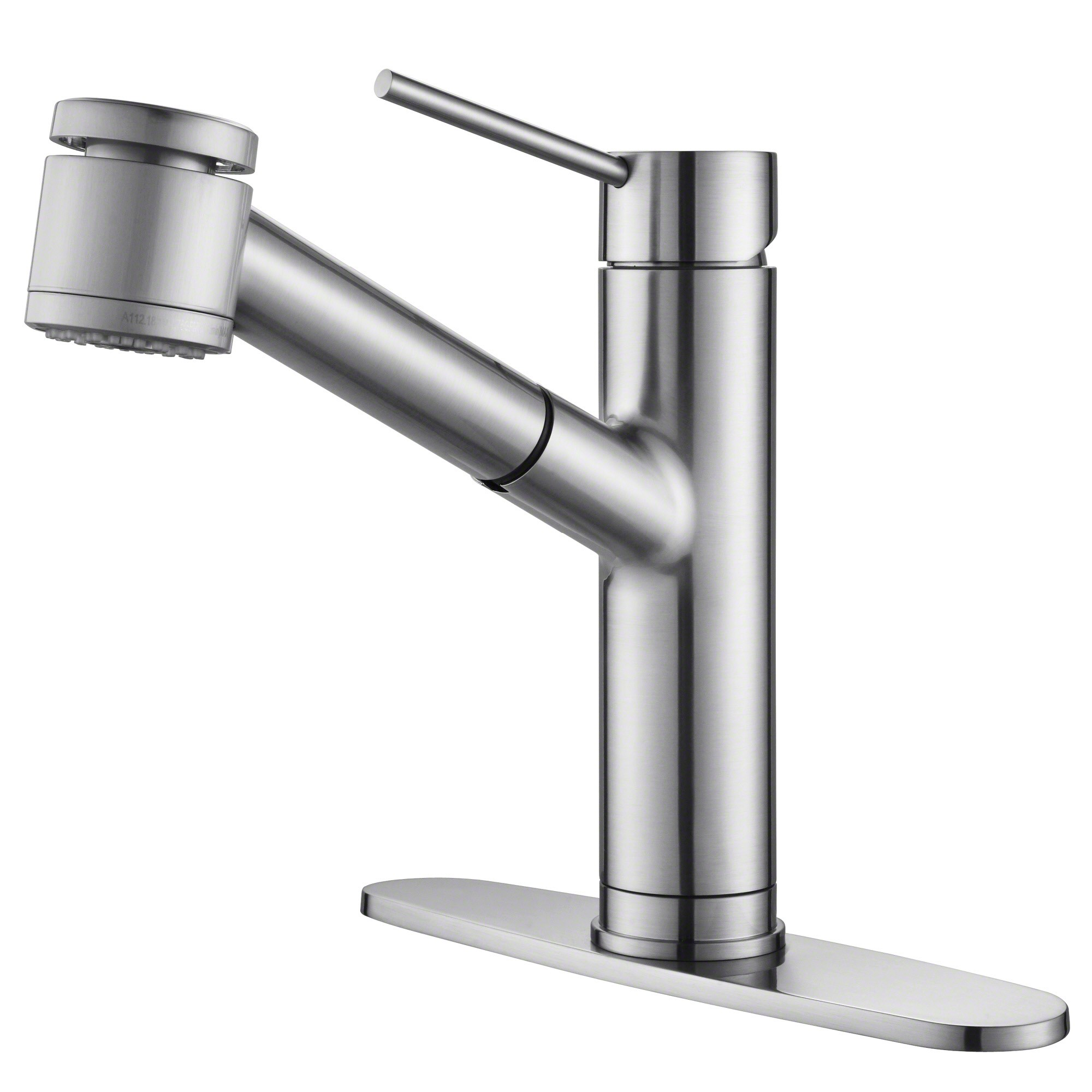 Kraus oletto single handle spot free stainless steel pull out kitchen faucet