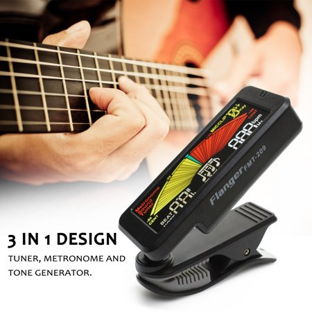 FMT-209 Guitar Tuner Clip-on 3 In 1 Metronome Tuner Tone Generator For Chromatic Guitar Bass Ukulele Violin Musical Instrument Accessory - image 4 de 4