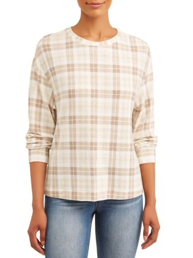 Time and Tru Women's Drop Shoulder Sweatshirt