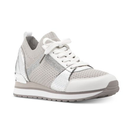 b535b065c953 Michael Kors - Michael Kors MK Women s Billie Knit Trainer Fabric Sneakers  Shoes Aluminum (7) - Walmart.com
