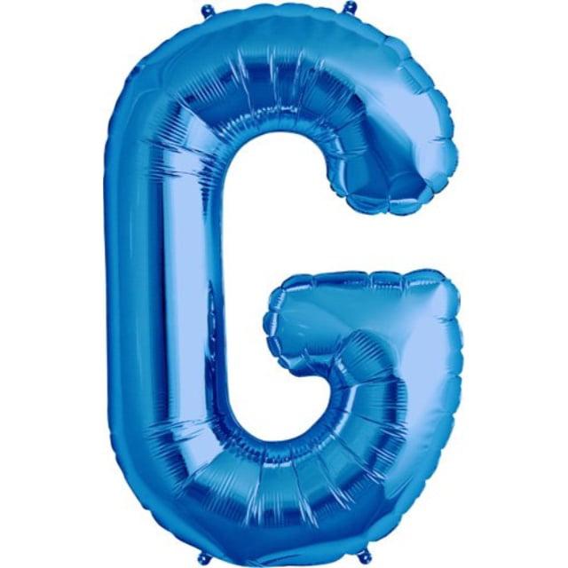 """northstar 00280 letter g foil mylar balloon, 34"""", blue"""