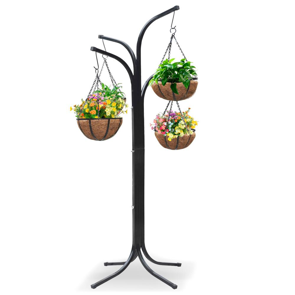 Superior Yaheetech 4 Arm Tree Plant Stand Hanging Holder Baskets /w 4 Coco Lined  Baskets
