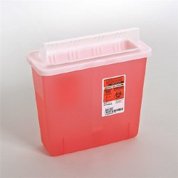 Container, Sharps Opn Red 5Qt  (Units Per Case: 20)