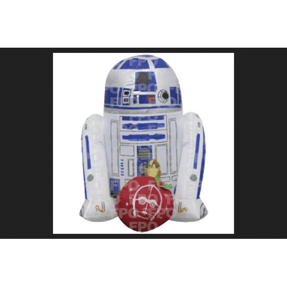 new arrival 4b0ac 5d4fb Gemmy Industries Star Wars R2D2 with Ornament Christmas Inflatable Fabric  24-1/4 in. x 10-13/16