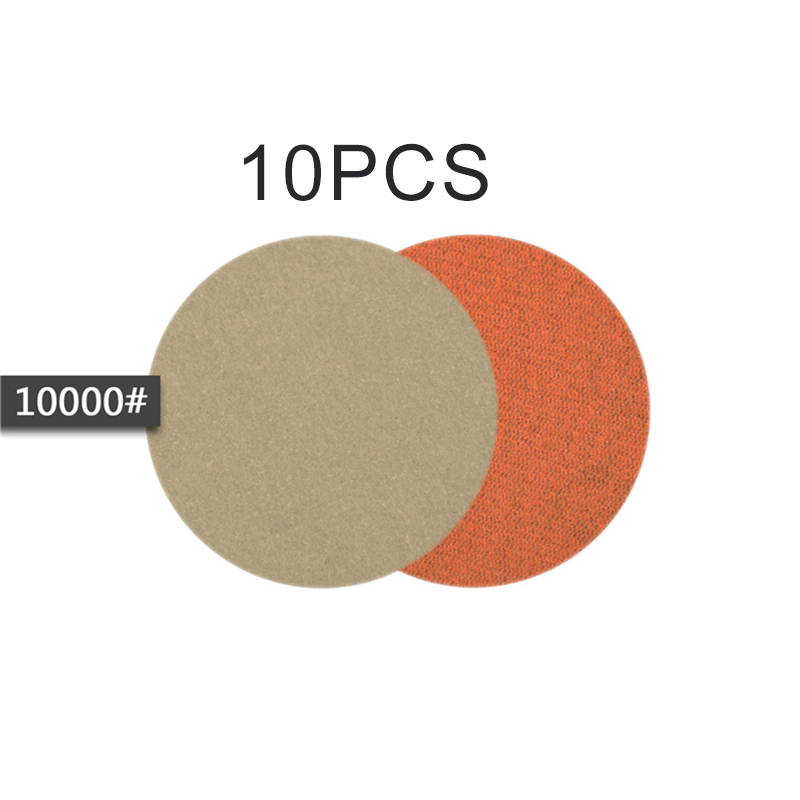 10PCS 5inch Wet Or Dry Sandpaper Hook And Loop Silicon Carbide Sanding-Discs