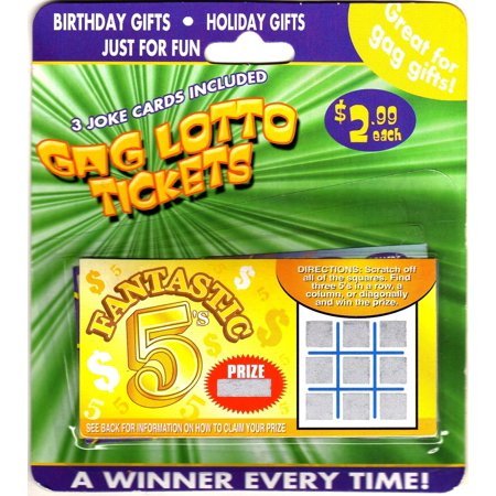 Gag Lotto Tickets - 3 Joke Cards - A Winner Every Time! - Jokes And Gags Toys