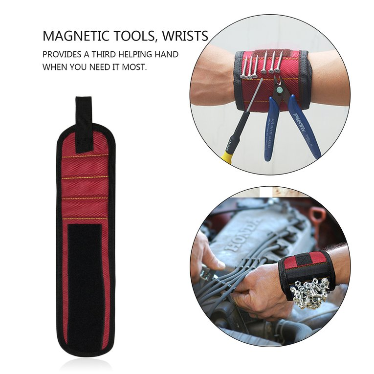 Magnetic Wrist Support Band with Strong Magnets for Holding Screws Nail Bracelet Belt Support Chuck Sports