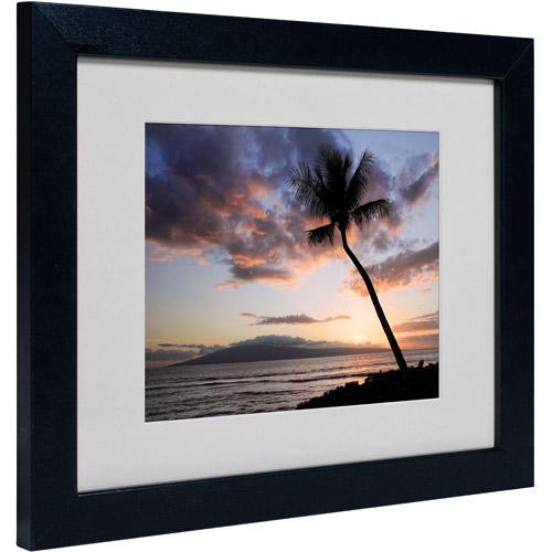 "Trademark Fine Art ""Palm Tree Maui"" Matted Framed Art by Pierre Leclerc"