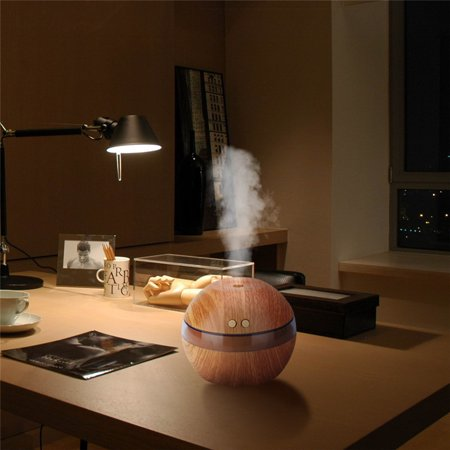 200Ml Wood Aroma Essential Oil Diffuser  Ultrasonic Cool Mist Humidifier With Led Light For Office Home Yoga Spa